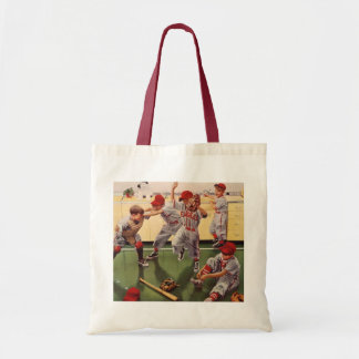 Vintage Sports Baseball Team, Boys in a Food Fight Tote Bag