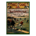 Vintage Sports Baseball, Three Chums Magazine Greeting Card