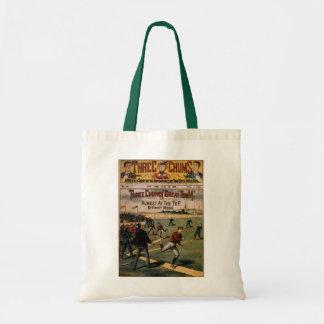 Vintage Sports Baseball Three Chums Magazine Cover Tote Bag