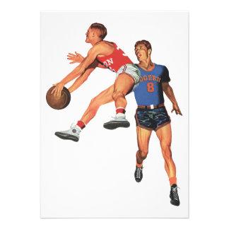 Vintage Sports Basketball Players Invites