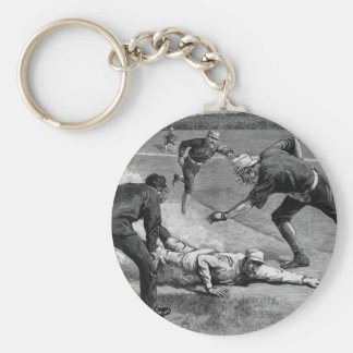 Vintage Sports, Black and White Antique Baseball Keychain