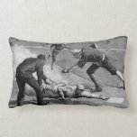 Vintage Sports, Black and White Antique Baseball Throw Pillow