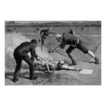Vintage Sports, Black and White Antique Baseball Posters