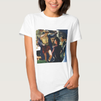 Vintage Sports, Boxer Leaving the Boxing Ring T-shirt
