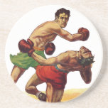 Vintage Sports, Boxers Boxing Fight Coasters