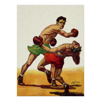 Vintage Sports, Boxers Boxing Fight Poster