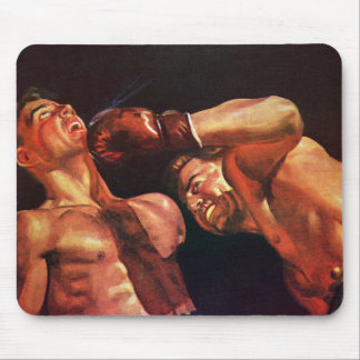 Vintage Sports, Boxers Boxing Match Mouse Pad