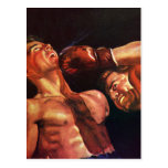 Vintage Sports, Boxers Boxing Match Post Card