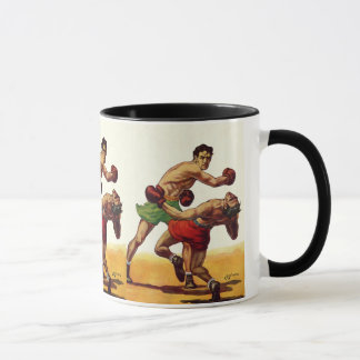 Vintage Sports, Boxers in a Boxing Fight Mug