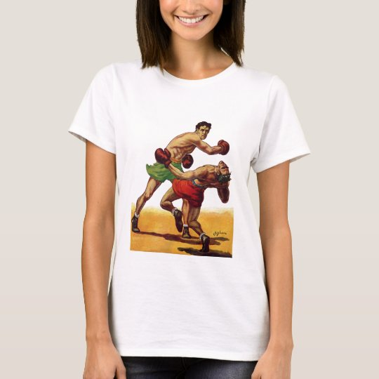 Vintage Sports, Boxers in a Boxing Fight T-Shirt