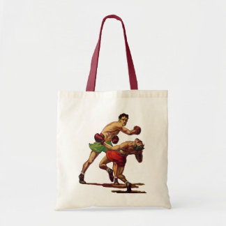 Vintage Sports, Boxers in a Boxing Fight Tote Bag