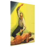 Vintage Sports Boxing, Boxer and Referee Canvas Prints