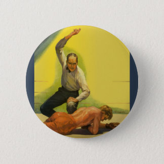 Vintage Sports Boxing, Referee with Boxer Button