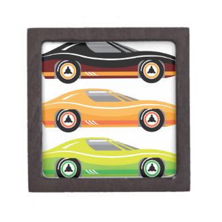Vintage Sports car Simple basic Vector Jewelry Box