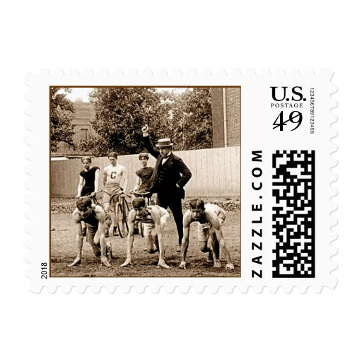 Vintage Sports Coach. Postage Stamp