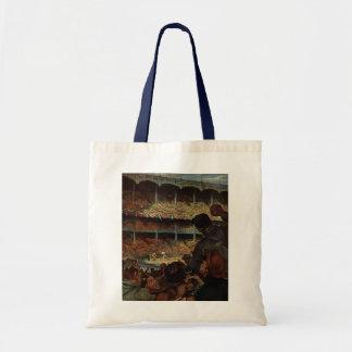 Vintage Sports Fans; Baseball Stadium Tote Bag
