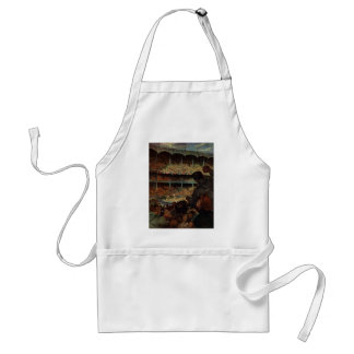 Vintage Sports Fans in a Baseball Stadium Adult Apron