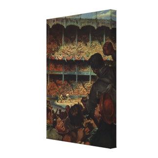 Vintage Sports Fans in a Baseball Stadium Canvas Print