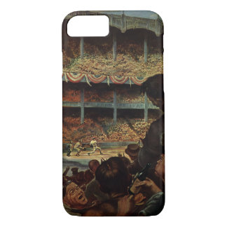 Vintage Sports Fans in a Baseball Stadium iPhone 8/7 Case