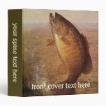 Vintage Sports Fishing, Largemouth Brown Bass Lake 3 Ring Binder