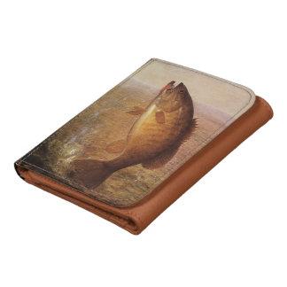 Vintage Sports Fishing, Largemouth Brown Bass Lake Tri-fold Wallet