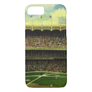 Vintage Sports, Flags and Fans in Baseball Stadium iPhone 8/7 Case