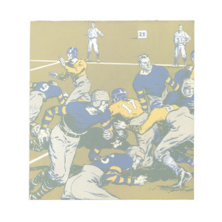 Vintage Sports Football Game, Blue vs Gold Teams Note Pad