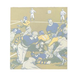 Vintage Sports Football Game, Gold vs. Blue Teams Notepad