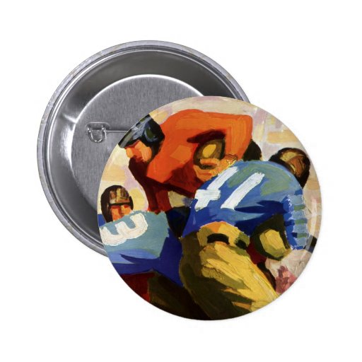 Vintage Sports, Football Player Pinback Button