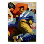 Vintage Sports, Football Player Greeting Card