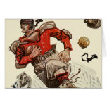 Vintage Sports, Football Player Greeting Cards