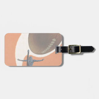 Vintage Sports, Football Player Kicking Ball Tags For Bags