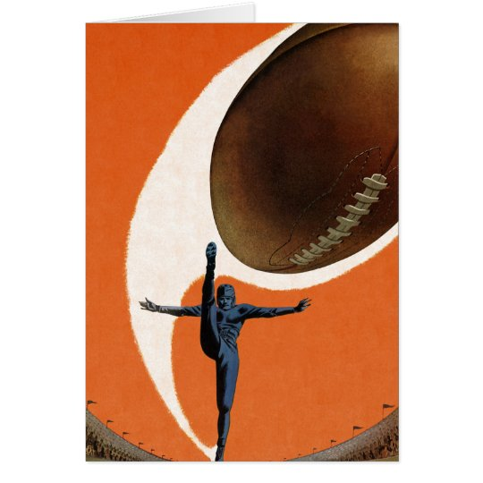 Vintage Sports, Football Player Kicking the Ball Card