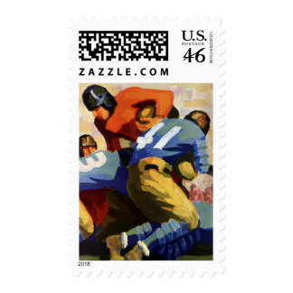 Vintage Sports Football Player Stamps