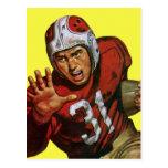 Vintage Sports, Football Player Postcard