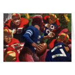 Vintage Sports Football Player Quarterback Greeting Card