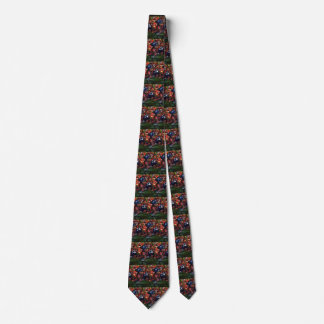 Vintage Sports Football Player Quarterback in Game Neck Tie