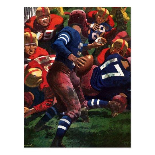 Vintage Sports Football Player Quarterback in Game Postcard
