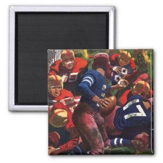 Vintage Sports Football Player Quarterback Fridge Magnets
