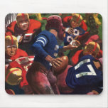 Vintage Sports Football Player Quarterback Mousepad