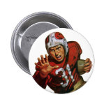 Vintage Sports, Football Player, Running Back 31 Pinback Button