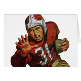 Vintage Sports, Football Player, Running Back 31 Greeting Card