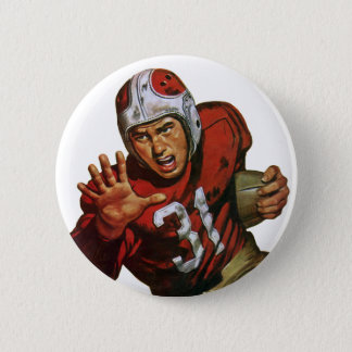 Vintage Sports Football Player Running Back No. 31 Button