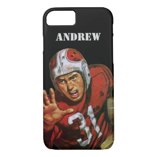 Vintage Sports Football Player Running Back No. 31 iPhone 8/7 Case