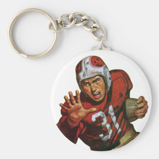 Vintage Sports Football Player Running Back No. 31 Keychain