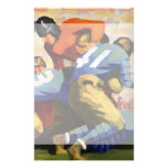 Vintage Sports, Football Player Customized Stationery