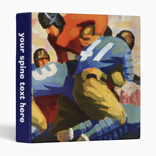 Vintage Sports, Football Players in a Game 3 Ring Binder