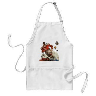 Vintage Sports Football Quarterback Player Running Adult Apron