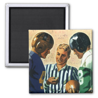 Vintage Sports, Football Ref Coin Toss Refrigerator Magnet
