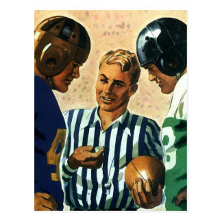 Vintage Sports Football Ref Coin Toss Postcards